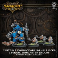 captain e dominic darius and halfjacks cygnar warcaster and solos